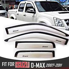 4 DOOR WHITE WIND SHIELD AIR GUARD RAIN VISOR WEATHER FIT 07-11 ISUZU DMAX D-MAX