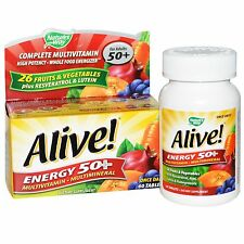 Alive! Energy 50+ Multivitamin & Mineral - 60 Tablets by Nature's Way - Ages 50+