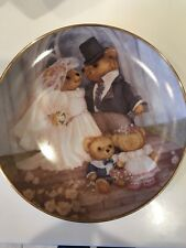 Teddy Bear Collectible Plate Just Married