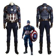 Top Grade Captain America 3 Civil War Steven Rogers Cosplay Costume