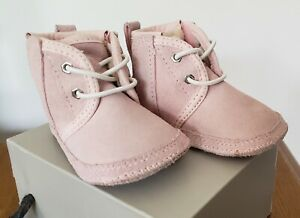 UGG AUSTRALIA BABY GIRL PINK ANKLE BOOTIES WINTER  * I BABY NEUMEL * 02 / 03