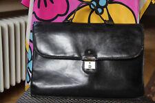 Aigner Tasche Aktentasche groß Leder Schwarz
