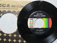 Bing Crosby,God Bless America,the Star Spangled Banner,Decca,45