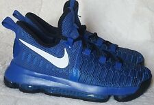 Nike KD9 Flyknit Youth Shoes Size 7y or/ Women's Size 8.5 Royal Black Basketball
