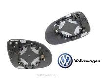 For VW GTI Jetta Passat Rabbit Genuine Set of Left & Right Door Mirror Glass