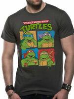 Teenage Mutant Ninja Turtles Shell Logo T Shirt Official Mens Unisex Grey Small