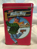 Collectible Retro 1991 Tin Container Mars Milky Way Dark Bars Candy Advertising