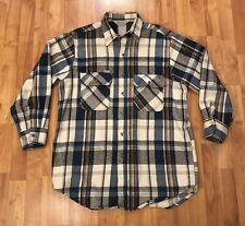 Vintage Carhartt Flannel 90s Long Sleeve Heavy Duty Button Up Men's Size Medium