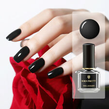 6ml BORN PRETTY Gloss Black Nail Polish Basic Black Nail Art  Varnish
