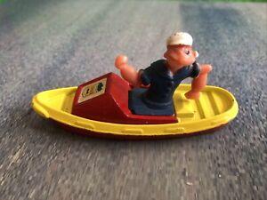Vintage Corgi Popeye in a boat 1980 Diecast