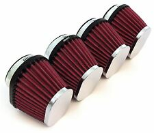 Set of 4 Chrome Performance Oval Pod Filters - 54mm - Honda CB650/750/900/1000