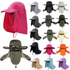 Men Outdoor Sport Sun Protection Hiking Fishing Hat Neck Face Flap Cap Wide Brim