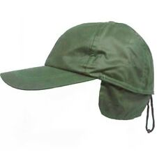 Waterproof Wax Baseball Cap Hat with Ear Flaps Cold Weather Winter Green 59cms