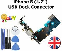 For iPhone 8 Charging Port Flex Dock Connector Replacement With Microphone WHITE