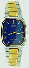 New Old Stock Citizen Blue Face Two Tone S.Steel Case & Band Water Resist Watch