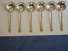 6 Vintage Sterling Silver Chocolate Spoons by TOWLE