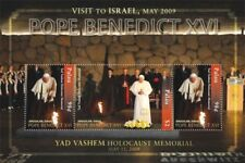 Palau- 2009 POPE BENEDICT VISITS ISRAEL SHEET of 3 STAMPS