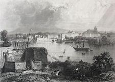 Bayonne Pyrénées Atlantiques estampe XIXe France par Rouargue 1853 France