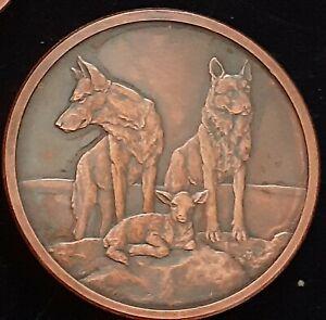 Silver Shield 2oz Antiqued Copper Round 2018 AWARE & PREPARED 2nd