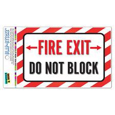 Fire Exit Do Not Block SLAP-STICKZ™ Premium Laminated Sticker Sign