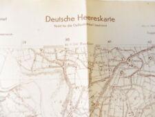 Deutsche Heereskarte Lodi - Italien, Maße 45 x 50 cm