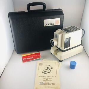 Vintage Dukane Film Strip Projector Model 28A33 W/Case, Film Manual & New Bulb!