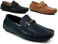 NEW MENS FLAT LOAFERS SLIP ON COMFY FORMAL SMART LOOK OFFICE WEDDING SHOES