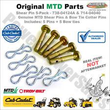 738-04124A 5 Pack Shear Pins & Cotters Cub Cadet / MTD / Troy Bilt 714-04040