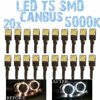 N° 20 LED T5 5000K CANBUS SMD 5050 Fari Angel Eyes DEPO Fiat Punto 1 176 1D2IT 1