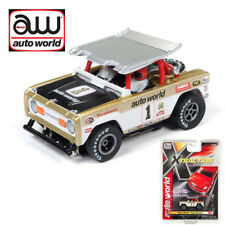 Auto World Xtraction R22 Ford Baja Bronco Wht w/Gold AW Race Graphic HO Slot Car