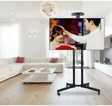 Mobile TV Cart Stand Television Stand Wheels Video Shelf for Office Home Outdoor