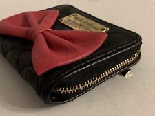 Minnie Mouse Signature Collection Red Bow Zippered Wallet