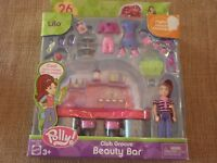 Vintage Polly Pocket New Club Groove Beauty Bar Playset Lila Beauty Salon NIB