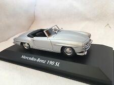 Mercedes-benz 190 sl plata 1:43 maxichamps Minichamps nuevo & OVP 940033130