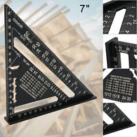 7'' Carpenters Roofing Rafters Joiners Aluminium Angle Square Triangle Ruler UK
