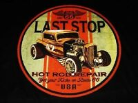 RAT ROD DUECE COUPE VINTAGE LOOK LAST STOP POCKET TEE T SHIRT