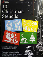 10 Christmas Stencils Ideal for Windows or Walls. Great for Spray Snow
