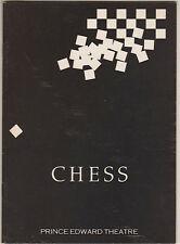 """Chess"" London Playbill  1988 Siobhan McCarthy"