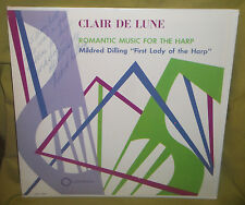 Mildred Dilling Clair De Lune Romantic Music For THe Harp- M. Dilling Signed LP