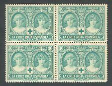 ESPAÑA 1926 - EDIFIL 332** - BLOQUE DE 4 - PRO CRUZ ROJA ESPAÑOLA - MNH