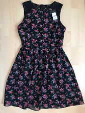 NEW LOOK SIZE 10 Dress Floral Skater Summer Festival Lace Back BNWT 💗
