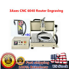 3 Axis Cnc 6040 Router Engraving Millingdrilling Machine Metalworking Cutterrc