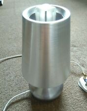 Silver 40W Metal Table Lamp with Matching Lampshade