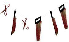 6 piezas de herramientas sangrientos Horror Halloween Decoración De Sala De Fiesta Guirnalda P6870