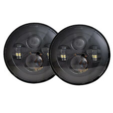 7 inch Black LED H4 Headlight for Jeep Wrangler Chevy Pickup Truck 3100