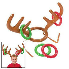 Christmas Inflatable Reindeer Antler Hat Ring Toss Game Xmas Party Children Toys