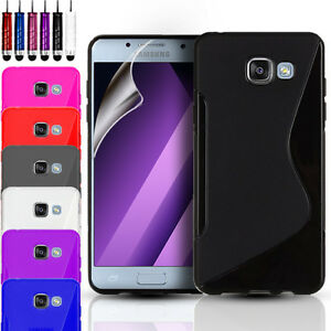 Silicone Gel S-Line Phone Case For Various Mobile Phones + Screen Protector