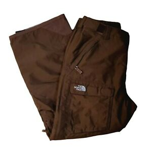 """The North Face HyVent Snow Ski Pants Insulated Brown Women's Size Large 30""""x27"""""""