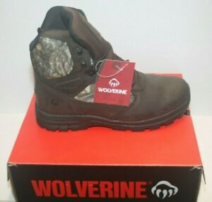 """Wolverine Men's Manistee 8"""" Hunting Boots 600g Insulated Waterproof Camo Sz 11"""