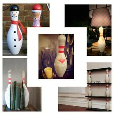 GENUINE AMF Used 10 Pin Bowling Pin Skittle Doorstop Upcycle OFFICIAL FULL SIZE